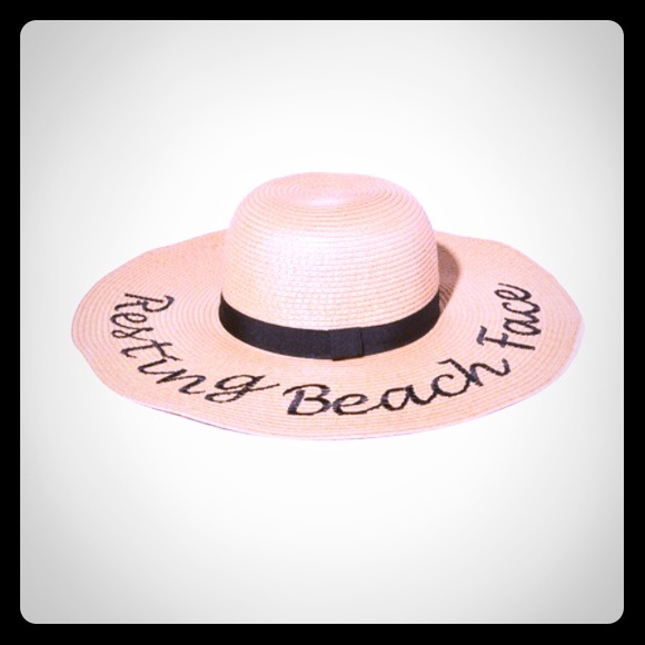 Charming Charlie Other - Floppy hat resting beach face 2728b2ed26a